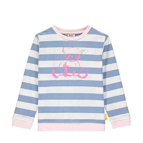 Steiff Mädchen Sweatshirt, Blau (Forever Blue 6027), (Herstellergröße: 110)