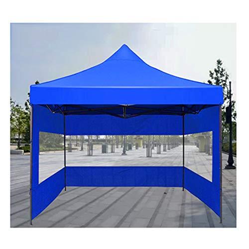 GDMING Carpa Transparente Plegable, Impermeable Tarea Pesada Kiosko Pabellón con Marco De Acero Y 3 Lados para Invernadero Patio Sala De Sol, 5 Tamaños (Color : Claro, Size : 2x2m)