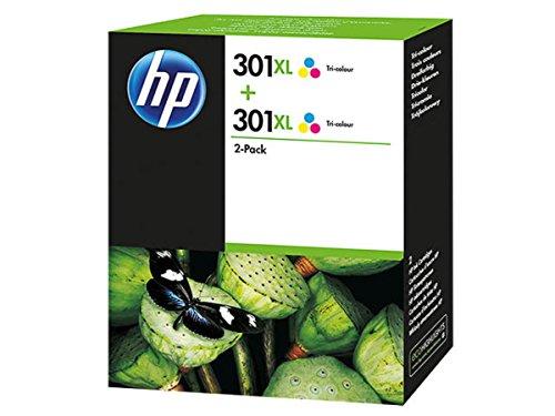 Original de tinta de ahorro-Set HP NO, 301 D8J46AE XL - 2 tintas-cartuchos - Cian, magenta, amarillo - 2 x 330 páginas