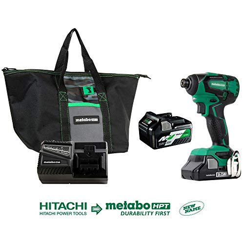 Metabo HPT 18V Cordless Impact Driver   Includes 2 Batteries (1) 36V/18V Multivolt 5.0Ah & (1) 18V Compact 3.0Ah Battery   1,522 in-lbs of Torque   up to 3,100 Rpm 3,400 BPM   Brushless (WH18DBFL2T)