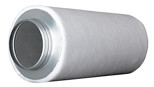 Prima Klima ECO Line (360-m³ - 480-m³ 125-mm Flansch AKF Aktivkohle-Filter Luft-Filter Geruchsfilter Abluft-Filter Grow Filter für Rohrventilatoren vers. Größen inkl. Cultivalley Anzucht-Dünger