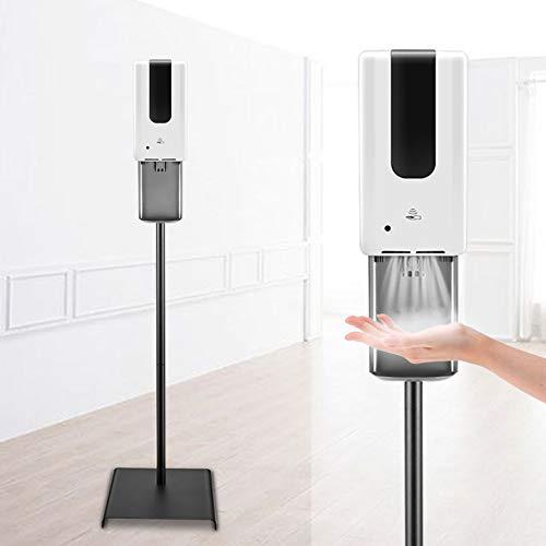 TOPQSC Columna Desinfectante 1200ML Dosificador Automático Higienizante Sensor de Columna Desinfectante con Soporte con Soporte de Piso Duradero y Bandeja de Goteo Dispensador de Gel Desinfectante