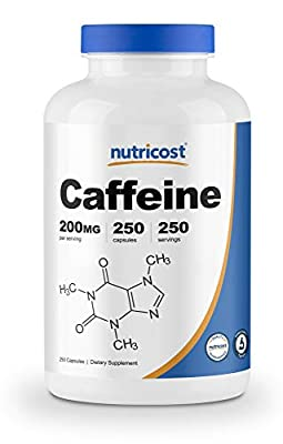 Nutricost Caffeine Pills, 200mg Per Serving by Nutricost