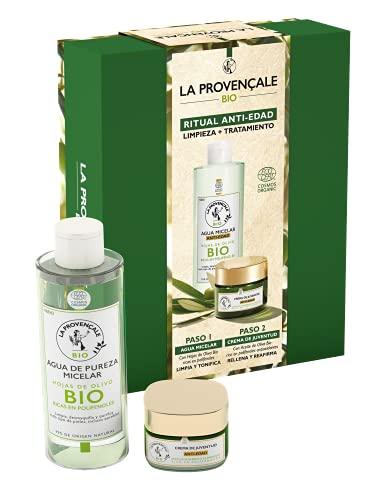 La Provençale BIO, Pack Anti Edad Crema de Juventud 50ml y Agua Micelar Anti Edad con Aceite de Oliva BIO Rico en Polifenoles Antioxidantes