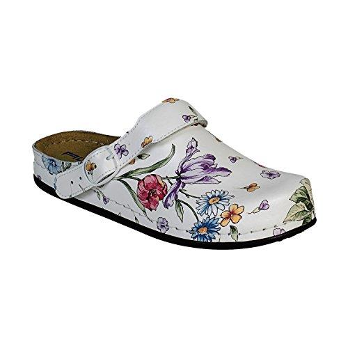 AWC-Footwear Deko-Line - Blumenmuster, Unisex Arbeitsschuhe, Mehrfarbig (mehrfarbig mehrfarbig), 40 EU (6.5 UK)