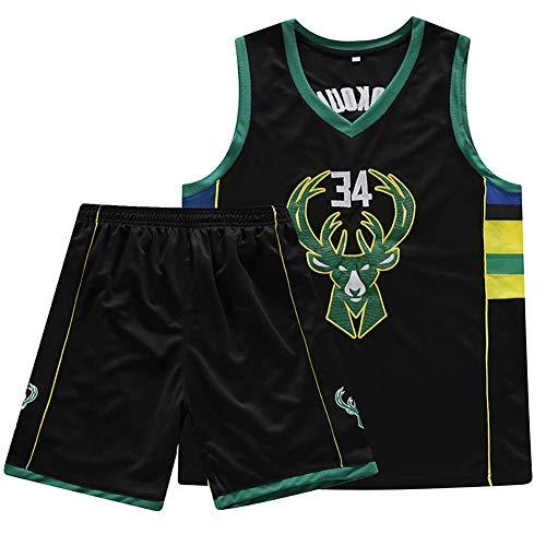 N / A Adecuado para 34 dólares Personalizados Antes de Giannis Antetokounmpo/Alfabeto, Camisetas de Baloncesto, niños y Adultos, el diseño de Las Estrellas Reales,XXX-Large,Negro