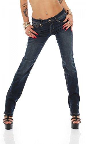 ONLY Damen onlELLA REG Straight Jeans REA12044 NOOS Jeanshose, Blau (Dark Blue Denim), W25/L32 (Herstellergröße: 25)