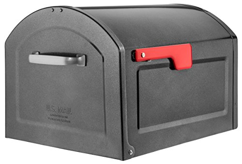 Architectural Mailboxes 950020P-10 Centennial Post Mount Mailbox, Extra Large, Pewter