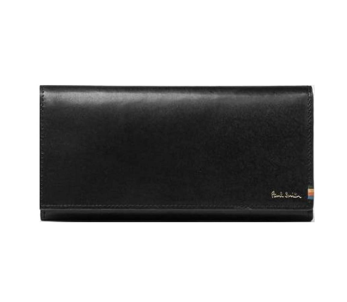 枠毒性思い出させるポールスミス Paul Smith 財布 ポールスミス 財布 メンズ ストライプステッチタブ かぶせ 長財布