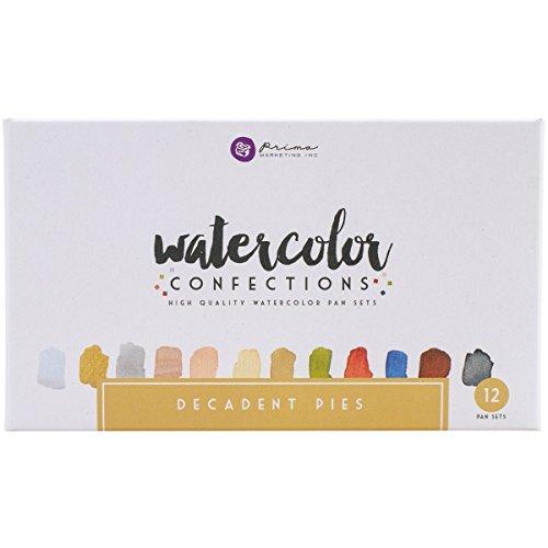 Unbekannt Prima Marketing Prima Watercolor Confections 1 Decadent Pies Wasserfarben/Aquarellfarben, mit Schalen zum Mischen