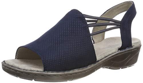 Jenny Damen KORSIKA 2257283 Geschlossene Sandalen, Blau 42), 36 EU