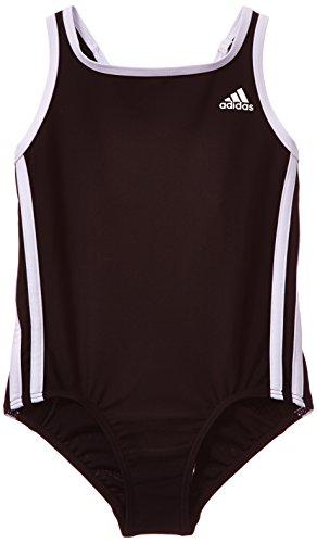 adidas Mädchen Badeanzug 3-Streifen, Black/White, 152