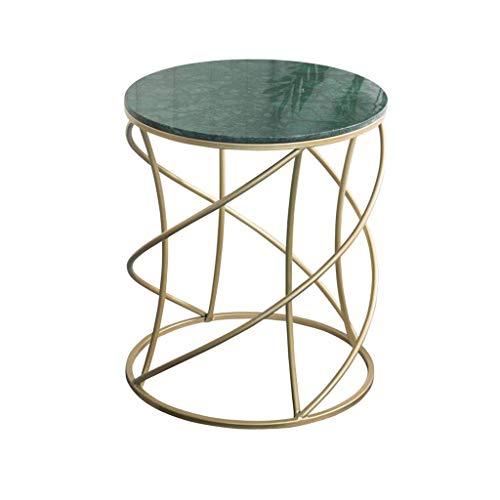 N/Z Living Equipment Marbre Table d'appoint Salon Table Ronde Table de canapé Petite Table Basse Balcon Table d'angle Vert
