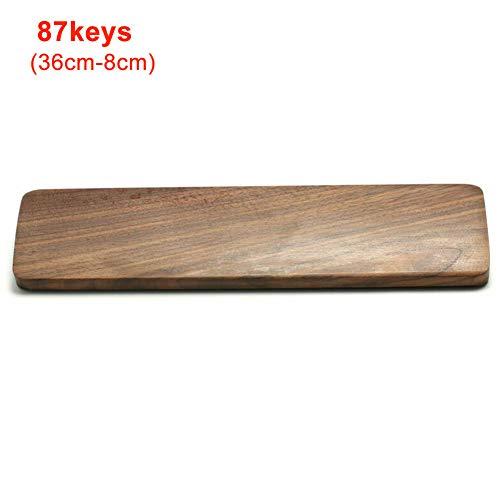 Buyfunny01 - Almohadilla para reposamuñecas para teclado, superficie pulida, madera de nogal, resistente, portátil, accesorios ergonómicos, para ordenador, alivio del dolor, antideslizante, cómodo (2)
