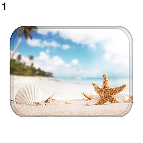 CAheadY 40x60 cm Strand Starfish Drink Home Rutschfeste Fußmatte Eingang Teppich Küche Teppich Decor 1#
