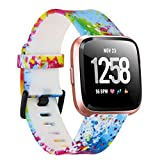 Tkasing Compatible with Fitbit Versa 2/Versa/Versa Lite/Special Edition Bands,Breathable Soft Silicone Strap Replacement Wristband Replacement for Fitbit Versa 2 Smart Fitness Watch Men Women