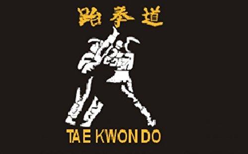 Taekwondo Drapeau 5Ft X 3ft Taille-100% Polyester-Oeillets Métal-Double Couture