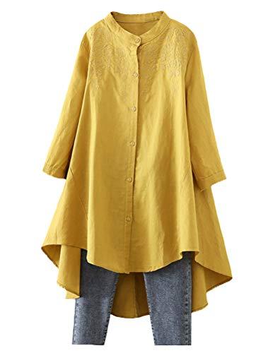 Minibee Women's Cotton Linen Shirt …