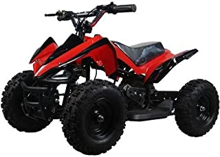 Go-Bowen 350 Watt Mars Sport Electric Ride on Mini Quad ATV for Kids, Red
