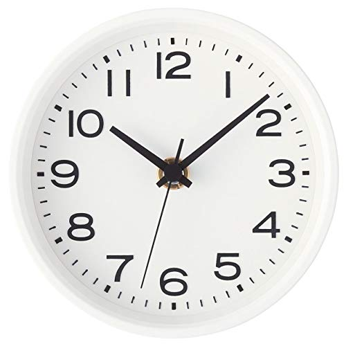 無印良品 アナログ時計・小(スタンド付) 掛置時計・ホワイト 15915217