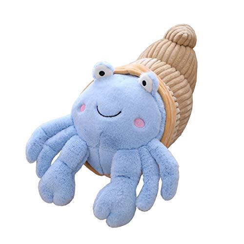 yuye-xthriv Hermit Crab Plush Toy Pillow Cartoon Plush Hermit Crab Doll Toy Back Cushion Bed Sofa Chair Decor Ornament Blue 35cm