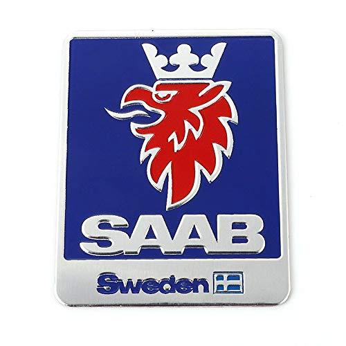 Car Front Hood Emblem Car Sticker Emblem Badge Decals For SAAB 9-3 9-5 93 95 900 9000 Sweden Decals SCANIA Vector Linear Aero Car Styling Accessories Applique (Color Name : SAAB)