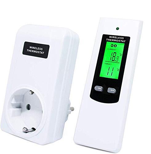 Thermostat Wireless für Heizkörper Thermostat Steckdose Heizkörper Thermostat Steckdose LCD-Display mit Hintergrundbeleuchtung Heizungsthermostat von MICRO ENERGY SOLUTIONS