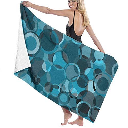 LREFON Toallas Microfibra Círculo Turquesa para la Ducha,Toallas de baño, Fitness, Deportes al Aire Libre