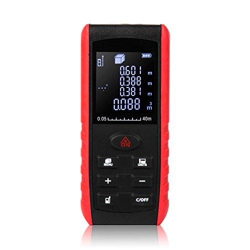 Uvistar Entfernungsmesser 40m Elektronisch Digitales Mini Lasermessgerät Klein Professional Distanzmessgerät Farbdisplay