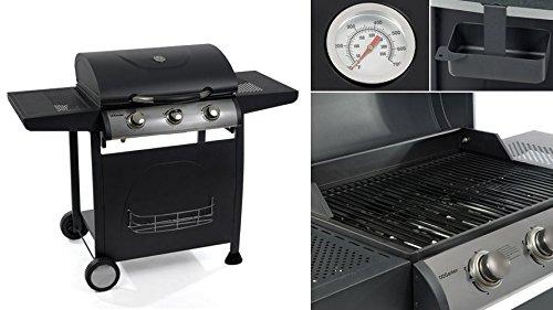 Barbecue gaz 3 feux en acier