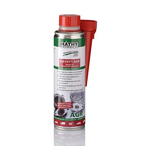 MATHY-AGR Diesel System Reiniger Abgasrückführungsventil, 300 ml - Diesel Additiv für Dieselmotoren - AGR-Ventil Reiniger - Diesel Zusatz - Einfache Anwendung über den Tank - Kraftstoffadditiv