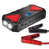WSJMJ Booster Batterie, Chargeur de Batterie Automatique à Affichage Numérique 600A et Démarreur de Voiture Externe Portable 13500mAh, avec Chargement USB, Lampe de Poche LED