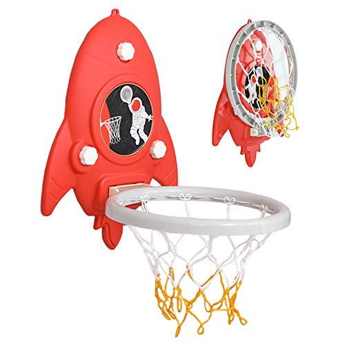 LXLA Canasta Baloncesto Juego de Aro de Baloncesto Plegable para Interiores, Mini Juego de Tablero para Habitación de Niños/Guardería/Patio de Recreo, Incluye Ganchos, Basket Ball y Bomba de Aire.