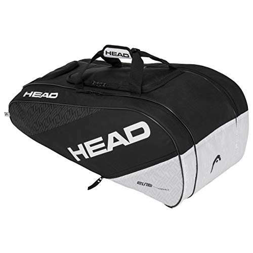 HEAD Elite Allcourt Sac de Raquette de T Adulte Unisexe, Noir/Blanc, Taille Unique