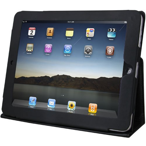 Daffodil IPC850–PU Leather Case for Apple iPad with Stand