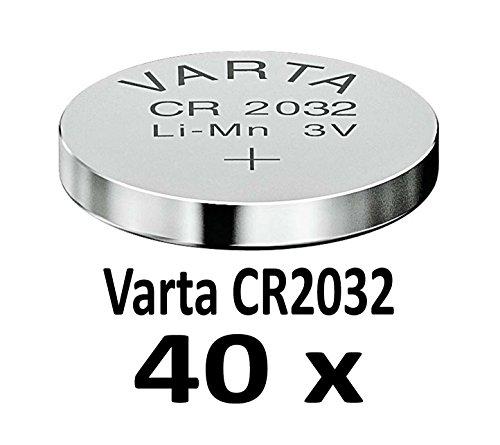 10-1000 STK. (40 Stück) Variante frei wählbar Varta 2032 Knopfzelle