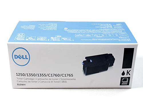 Dell 810WH 1250 1350 1355 C1760 C1765 Toner Cartridge (Black) in Retail Packaging, 1 Size