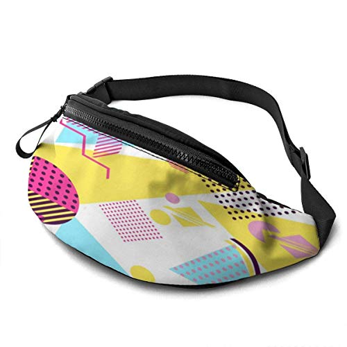 Jard-T Riñonera impermeable Riñonera Bolsa Correr Cinturón Retro Vintage 80s 90s Estilo Moda Diseño Corredor Bum Bag Running Belt