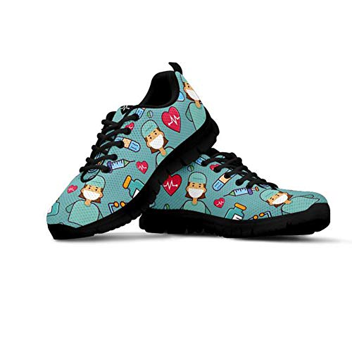 Coloranimal Zapatillas deportivas para correr por carretera para mujer, de malla de aire, ligeras, informales, para uso diario., color, talla 39 EU