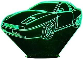 FIAT coupe 2.0, Lampada illusione 3D con LED - 7 colori.