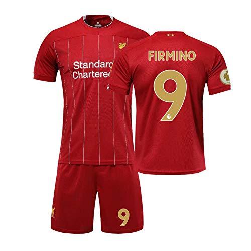 Champion No.9 Firmino Fußball Jersey Liverpool 20/21 Heim/Auswärts Spiel Kinder/Männer Jersey-Fußball-Set red-L