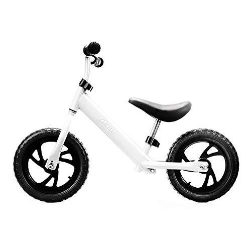 QqHAO Kinder Fußlose Balancen-Fahrrad, Baby-Wanderer-Spielzeug-Auto ist geeignet für Jungen und Mädchen 1-7 Jahre alt (Rot, Blau, Weiß, Schwarz),Weiß