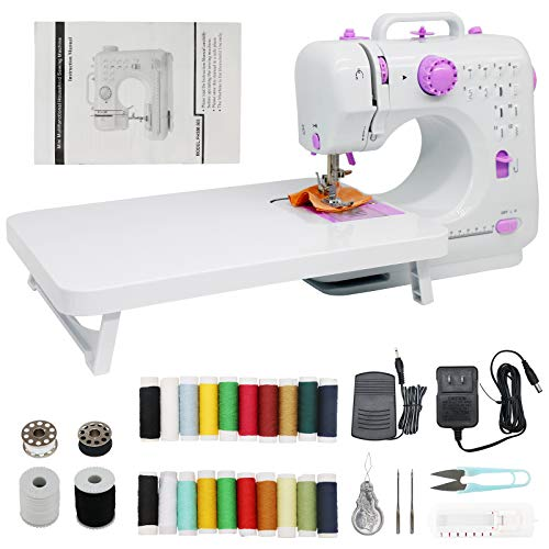 Sewing Machine for beginnersMini Portable Sewing Machines 12 Stitches 2 Speed with Foot PedalEasy Sewing Machine for Household Crafting Mending