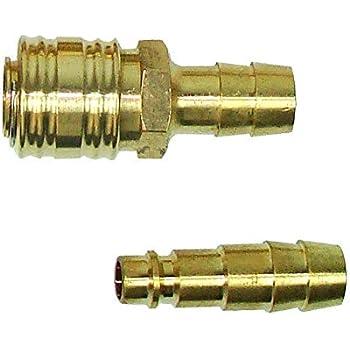 2-fach Kupplung mit Stecker Druckluft Schnellkupplung Druckluftkupplung