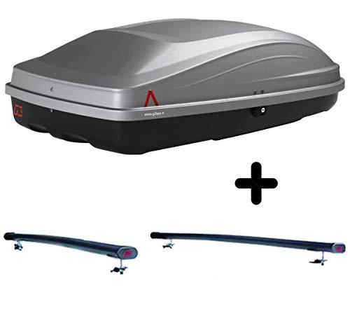 PROPOSTEONLINE Box Tetto Auto con Barre Portatutto Compatibile per Audi A6 Avant Station Wagon (Fino 2005) Baule Portapacchi Grigio da 240 LT