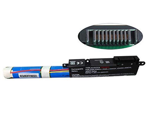 YASI MFG® 11.25V 2600mAh A31N1519 Batería para portátil ASUS X540 X540LA X540LJ X540SA X540SC X540YA X540S F540 F540L F540LA F540S F540SA F540Y R540 R540L R540LA R540S R540SA R540Y S540R