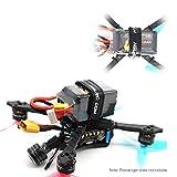 Kongqiabona-UK 5Pcs HGLRC 20 * 250mm Correa de Silicona Antideslizante Hebilla de plástico de Metal Paquete de batería para RC Racing Drone batería de Litio