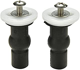 Ioffersuper 2x toilet seat hinges blind hole fixings expanding rubber top fix nuts screws 3C