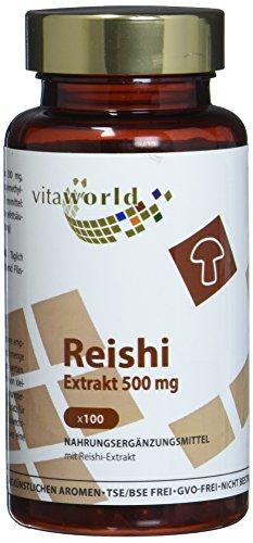 Vita World Reishi Extrakt 500mg 100 Kapseln Apotheken Herstellung ganoderma lucidum ling zhi