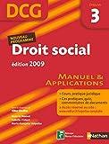 DROIT SOCIAL EPREUVE 3 DCG ELE